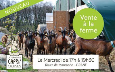 Le mercredi : vente à la ferme !